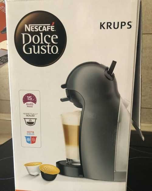 Капсульная кофеварка krups piccolo серая