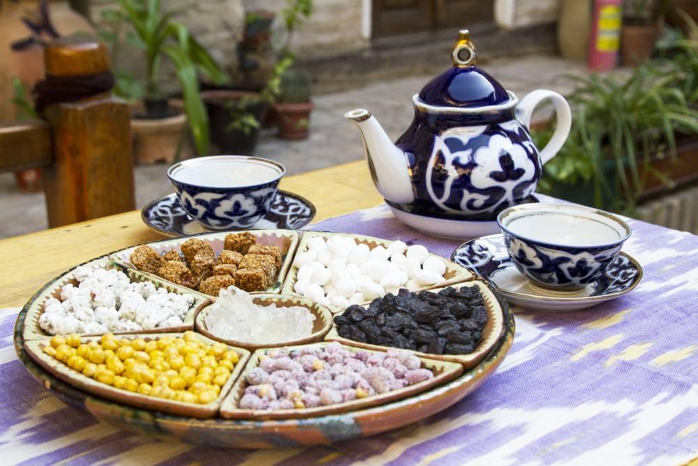 Узбекский чай, чайные традиции в узбекистане, чайхона в узбекистане