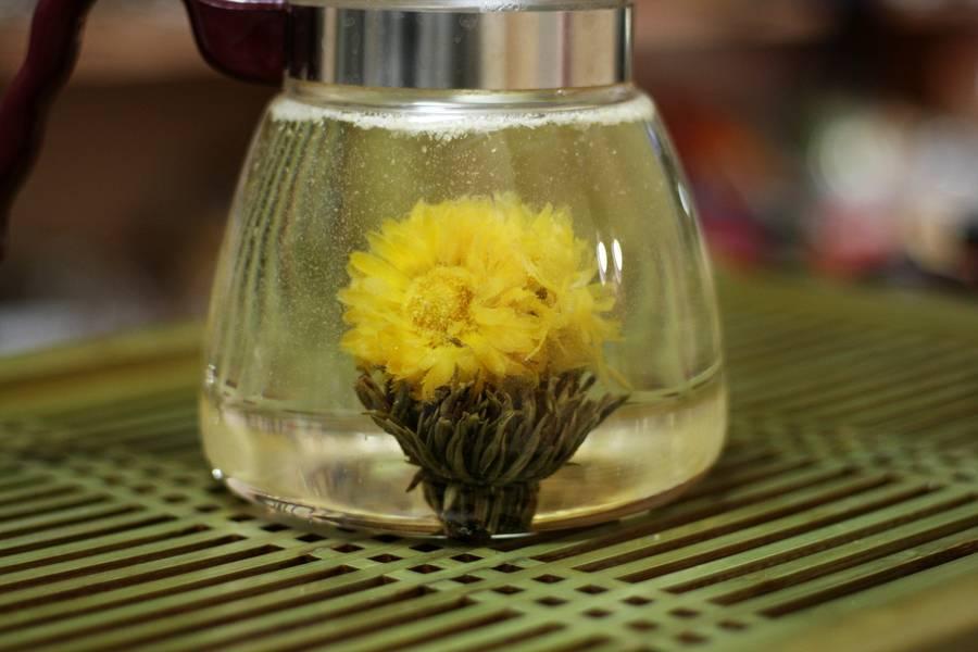 Связанный (распускающийся) чай: виды, свойства, состав, ка делают, описание