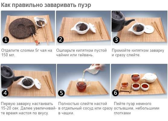 Как заваривать и пить прессованный пуэр в таблетках чтобы вставило