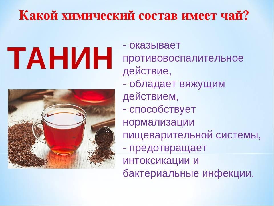 Полезные свойства чая, химический состав чая