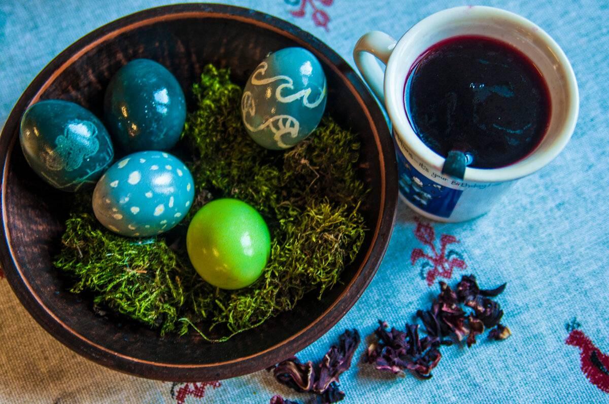 Натуральные красители для яиц: перечень продуктов и способы окрашивания