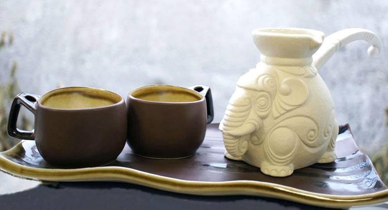 Фарфоровая турка для кофе