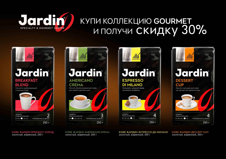 Виды молотого кофе жардин (jardin)