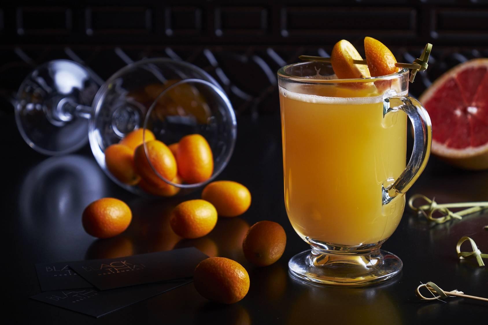 Яблочный чай с корицей и апельсином