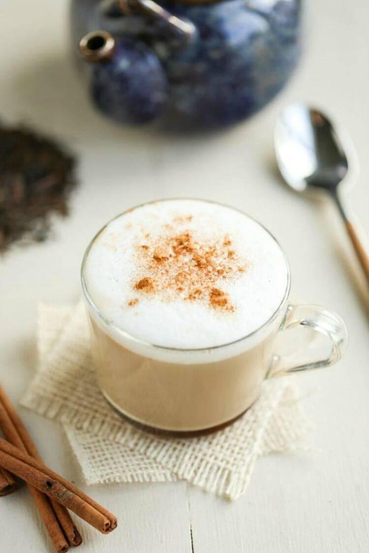 Чай латте с пряностями   портал о кофе