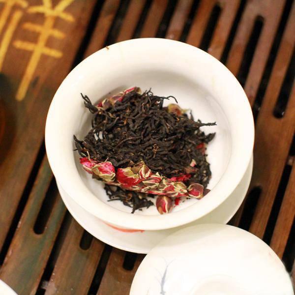 Красный чай ли чжи хун ча с ароматом личи