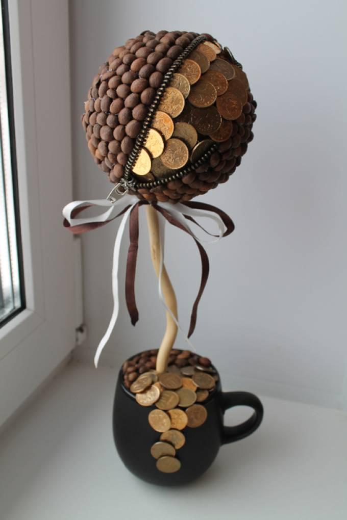 Бонсай топиарий ёлка маски день рождения моделирование конструирование кофейное дерево мк гипс цемент клей ленты материал природный мешковина нитки шпагат