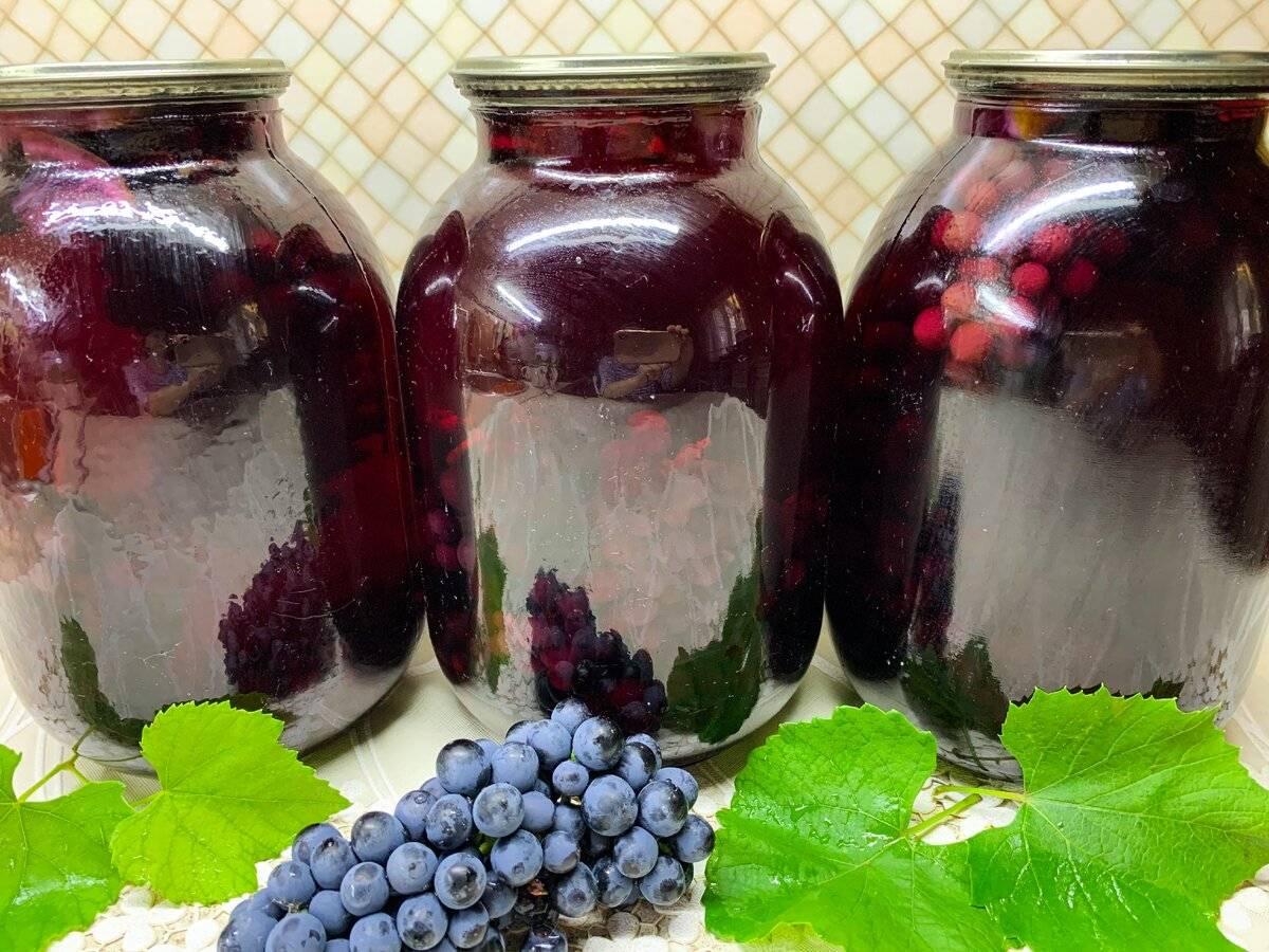 Компот из винограда на зиму – фото рецепт и 5 вариаций