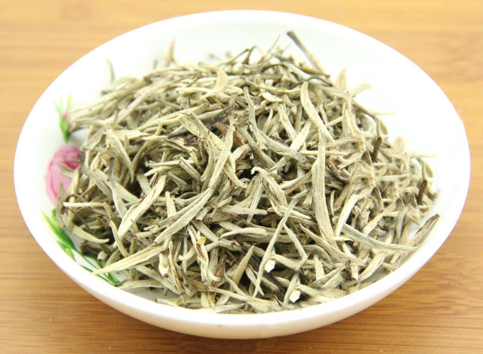 """Белый чай """"бай хао инь чжень"""" (серебряные иглы) 50 грамм  (№baj_hao_in_tchzen_white_tea)"""