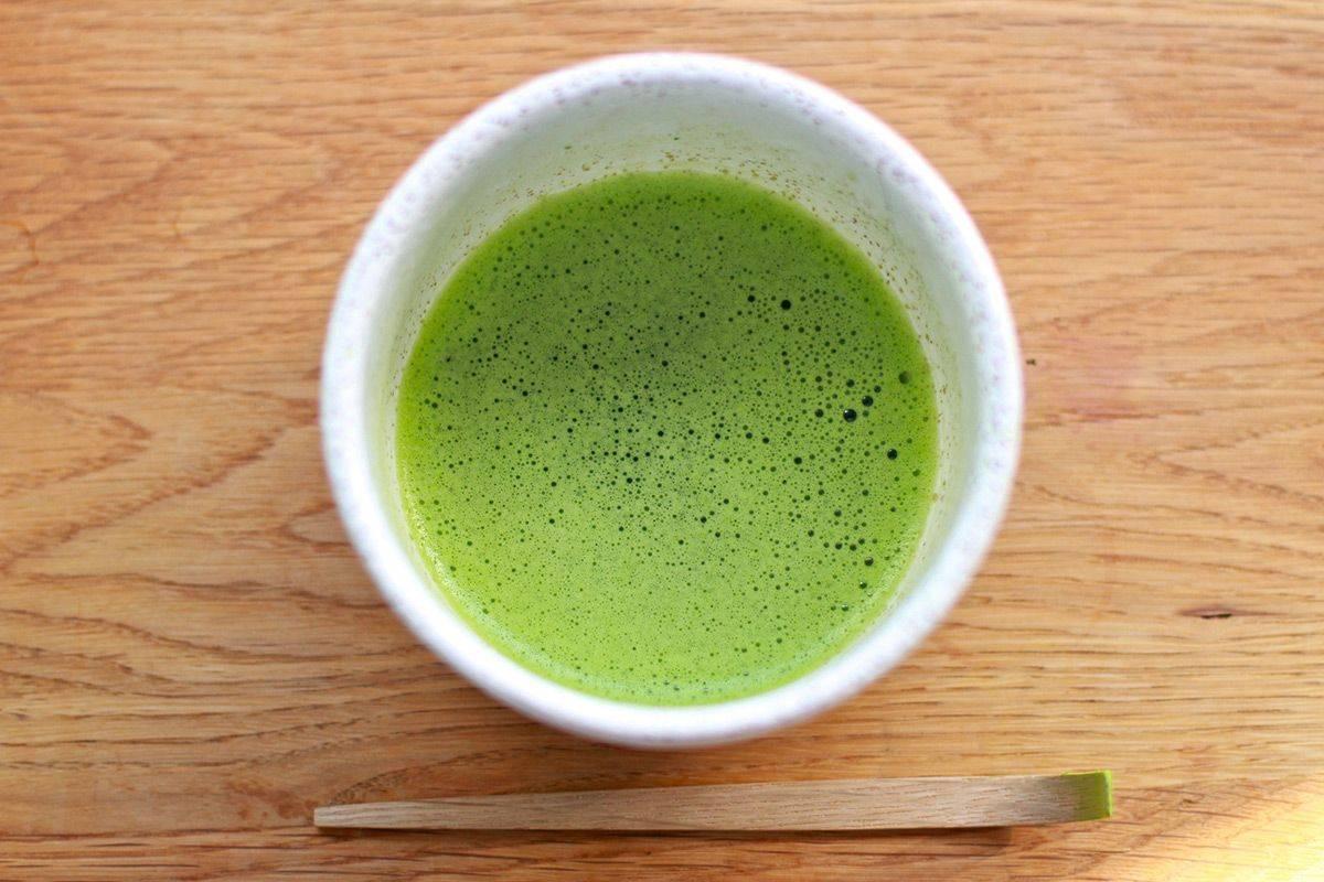 Зелёный порошковый чай матча