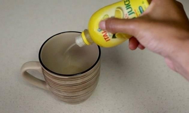 Удаление кофейного налета с чашки, турки, термоса и других предметов