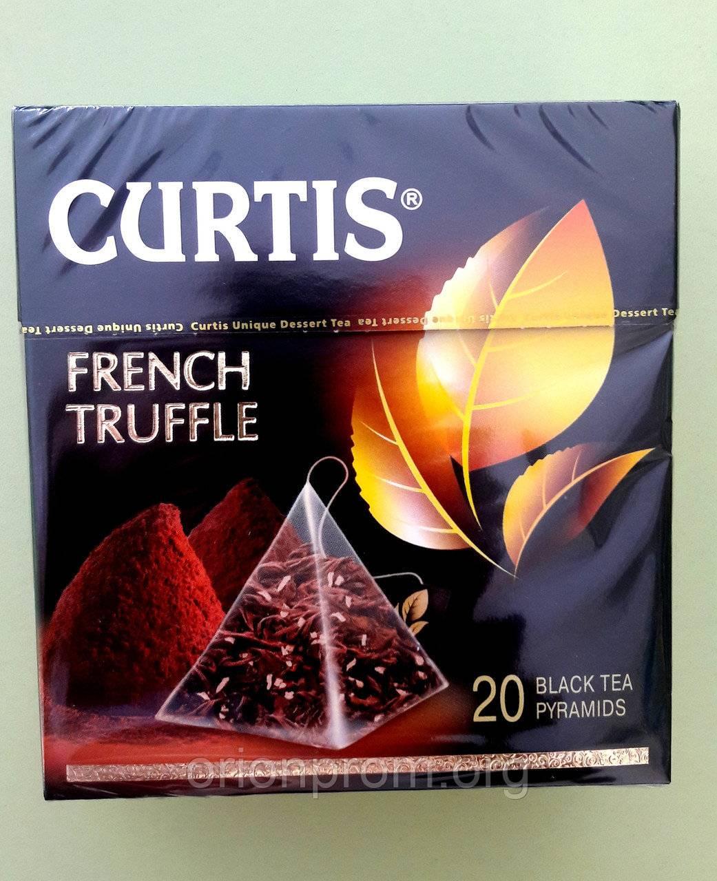 Ассортимент чая curtis: зеленый, белый, черный и др.