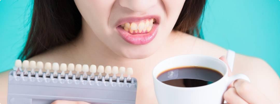 От кофе могут болеть зубы
