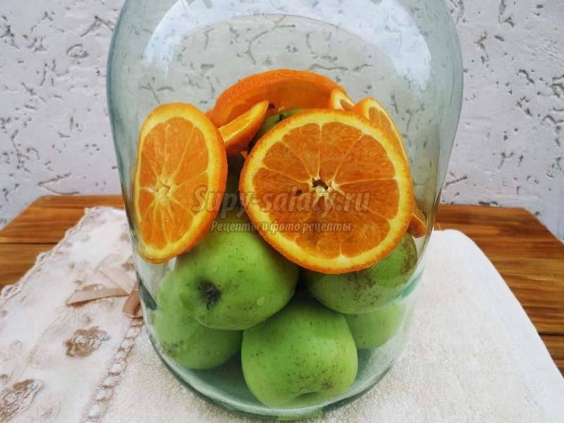 Компот из яблок и апельсинов – гармония пользы, вкуса и аромата. как готовить компот из яблок и апельсинов в разных вариантах