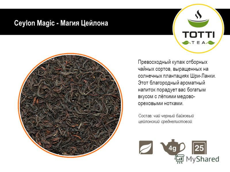 Цейлонский чай для бодрости, энергии и отличного настроения