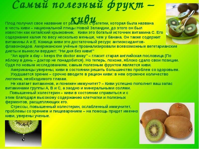 Киви с кожурой: польза и вред для организма человека