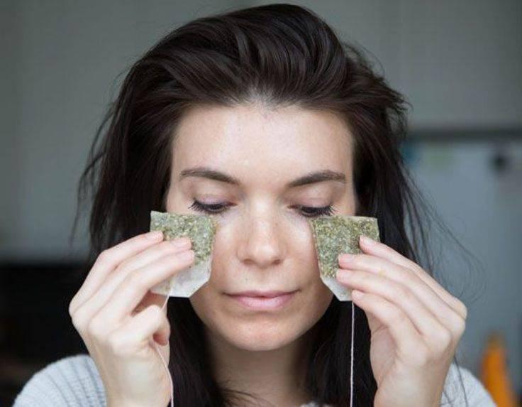 Черный чай для глаз: промыть от синяков и мешков под глазами для пользы