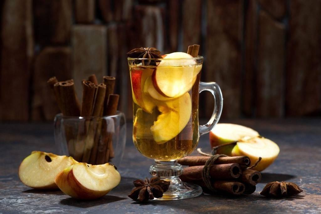 Чай с яблоками, полезные свойства, правила приготовления.