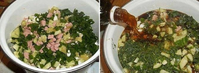 Окрошка на квасе с колбасой – 10 пошаговых рецептов классической окрошки