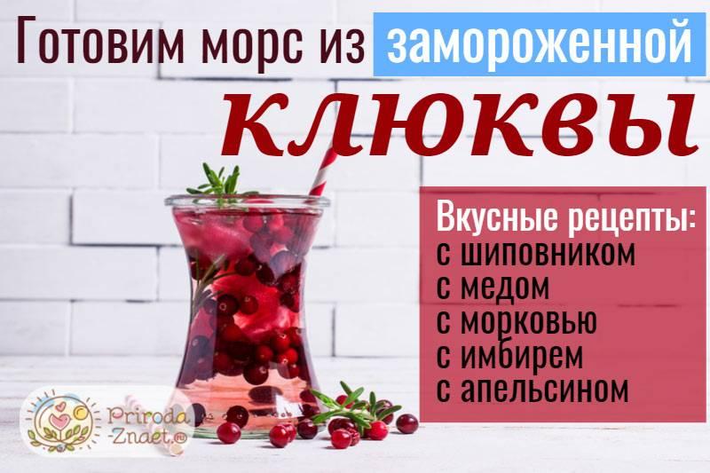 Морс из замороженной клюквы рецепт с фото