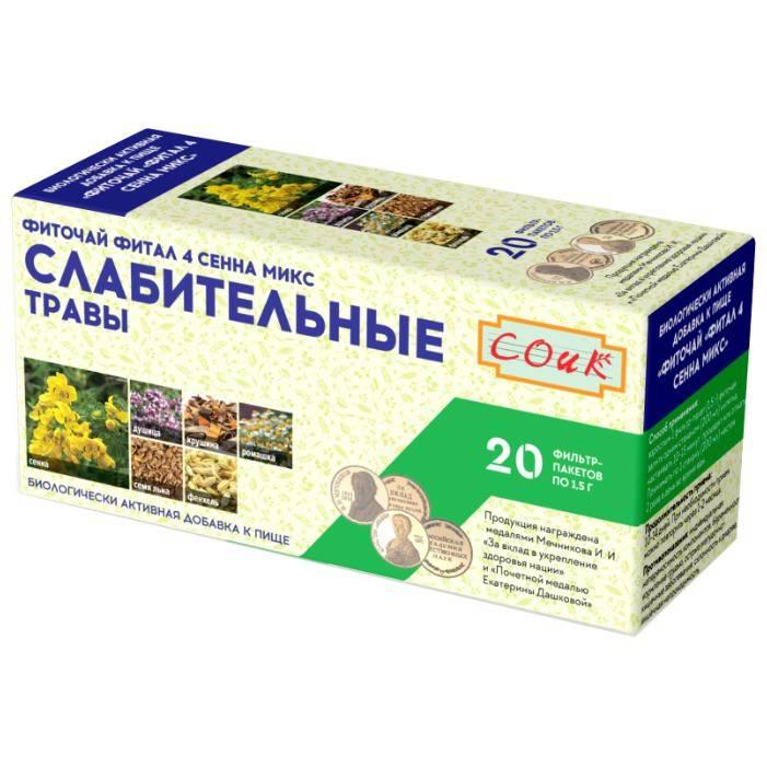 Состав слабительного чая для лечения запора и его применение