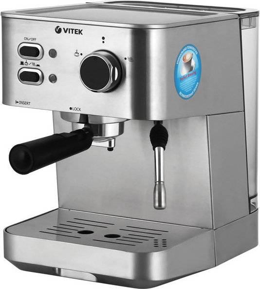 Обзор vitek vt-1526 – третьей рожковой кофеварки бренда с автодозацией от эксперта
