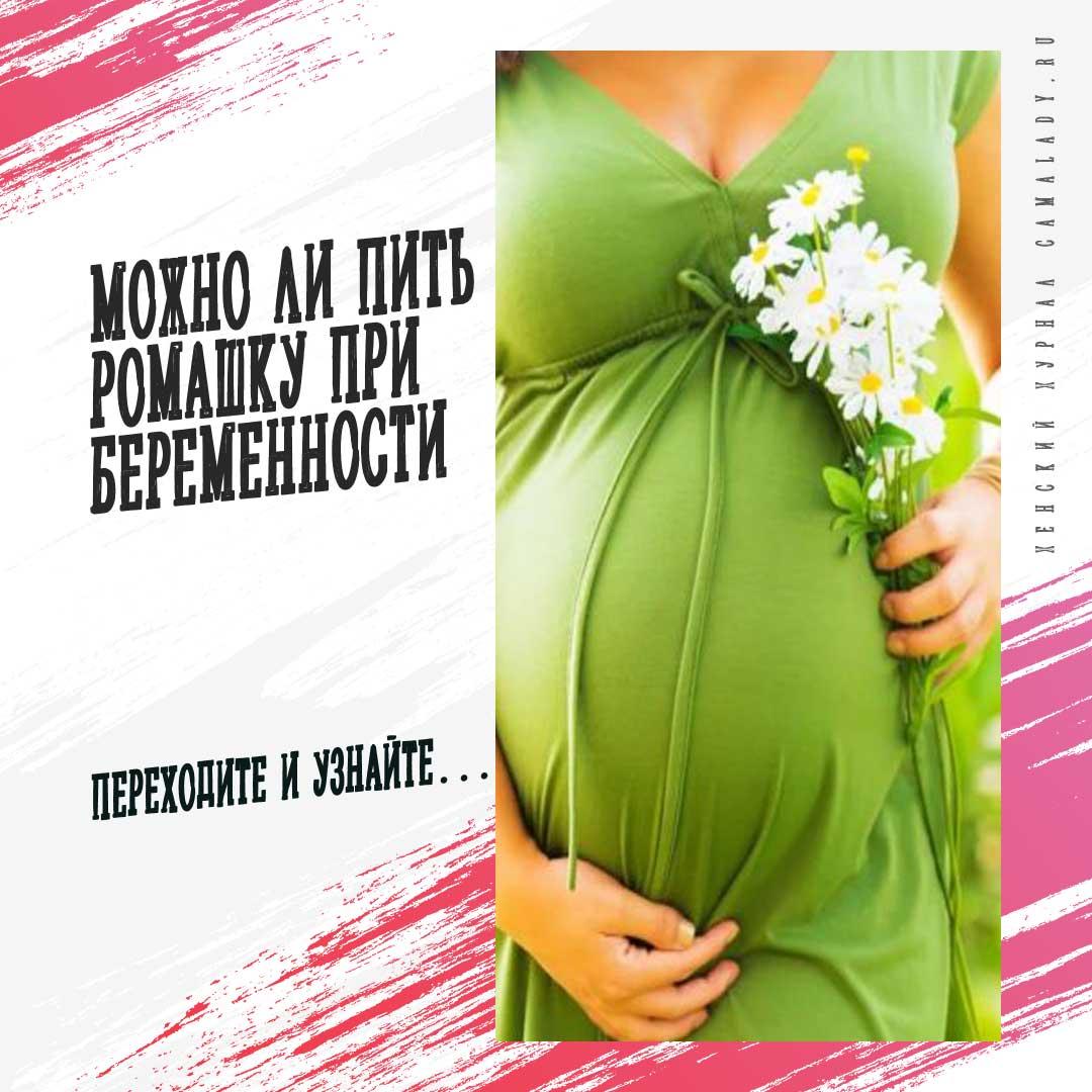 Полезные свойства и применение ромашки во время беременности