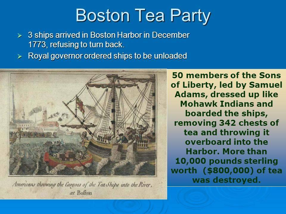 «бостонское чаепитие» - статьи
