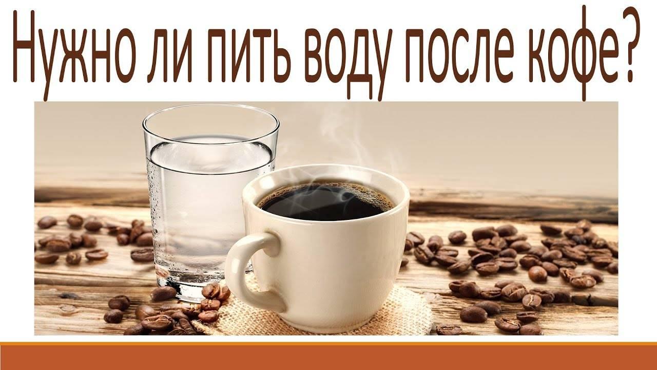 Почему после кофе нужно пить воду   кофе и здоровье