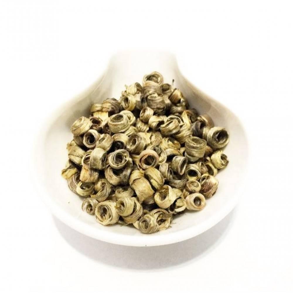 Зеленый чай нефритовые кольца с оригинальной скруткой | великий чайный путь