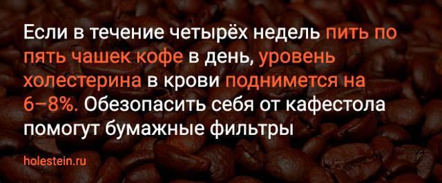 Кофе и холестерин: как кофе влияет на организм человека