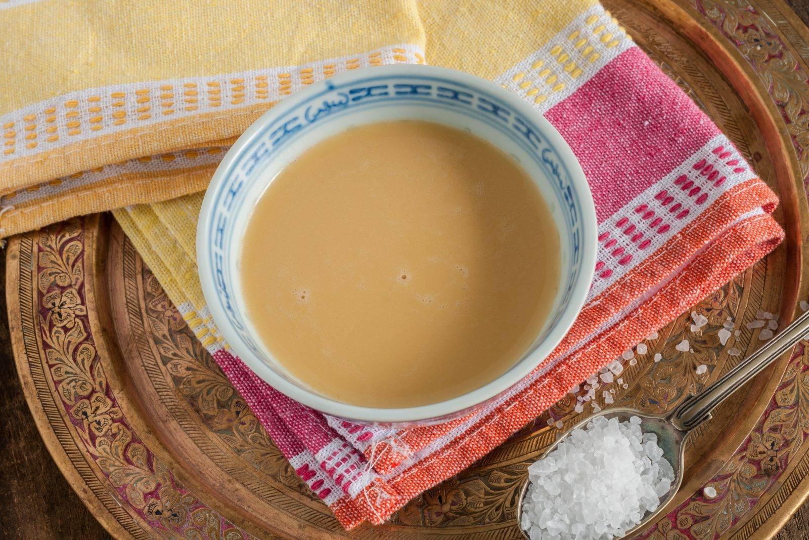 Состав и рецепт приготовления тибетского чая с молоком и солью