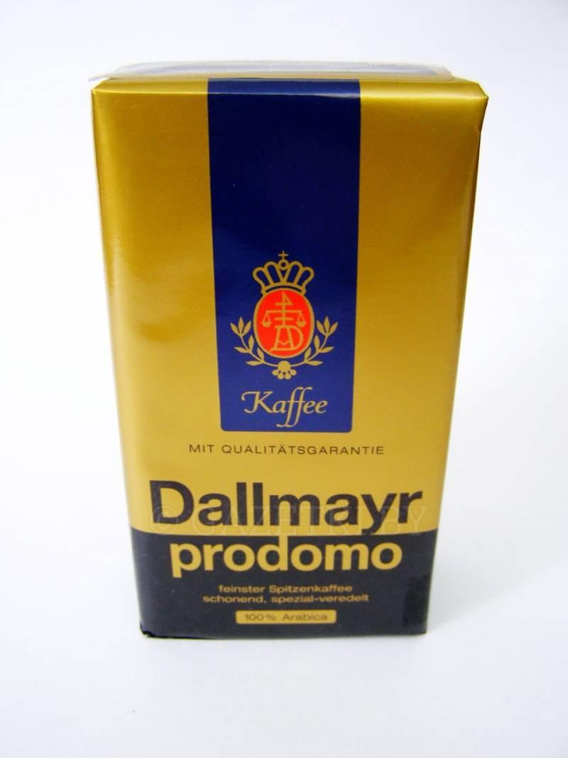 Кофе в зернах dallmayr prodomo 500 г — цена, купить в москве