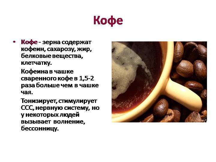 Химический состав и влияние кофе на здоровье