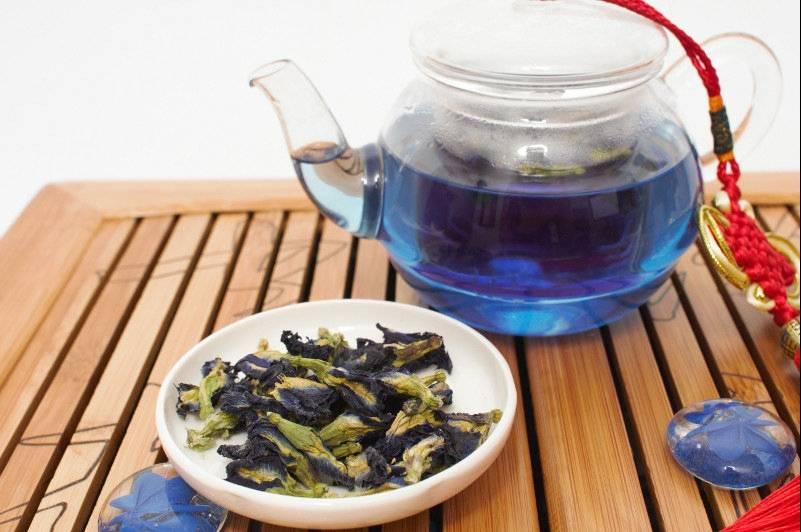 Синий чай из тайланда: полезные свойства и правила заваривания
