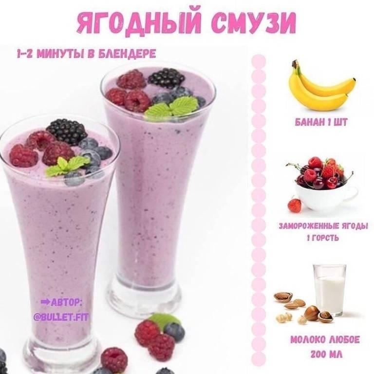 Смузи из замороженных ягод — похудение