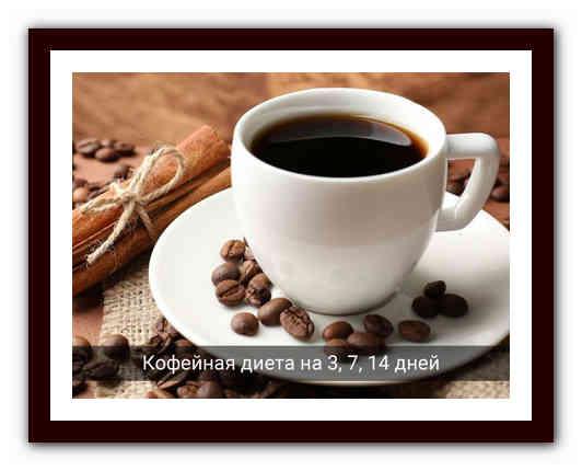 Кофейная диета для похудения на 3, 7, 14 дней, фото до и после