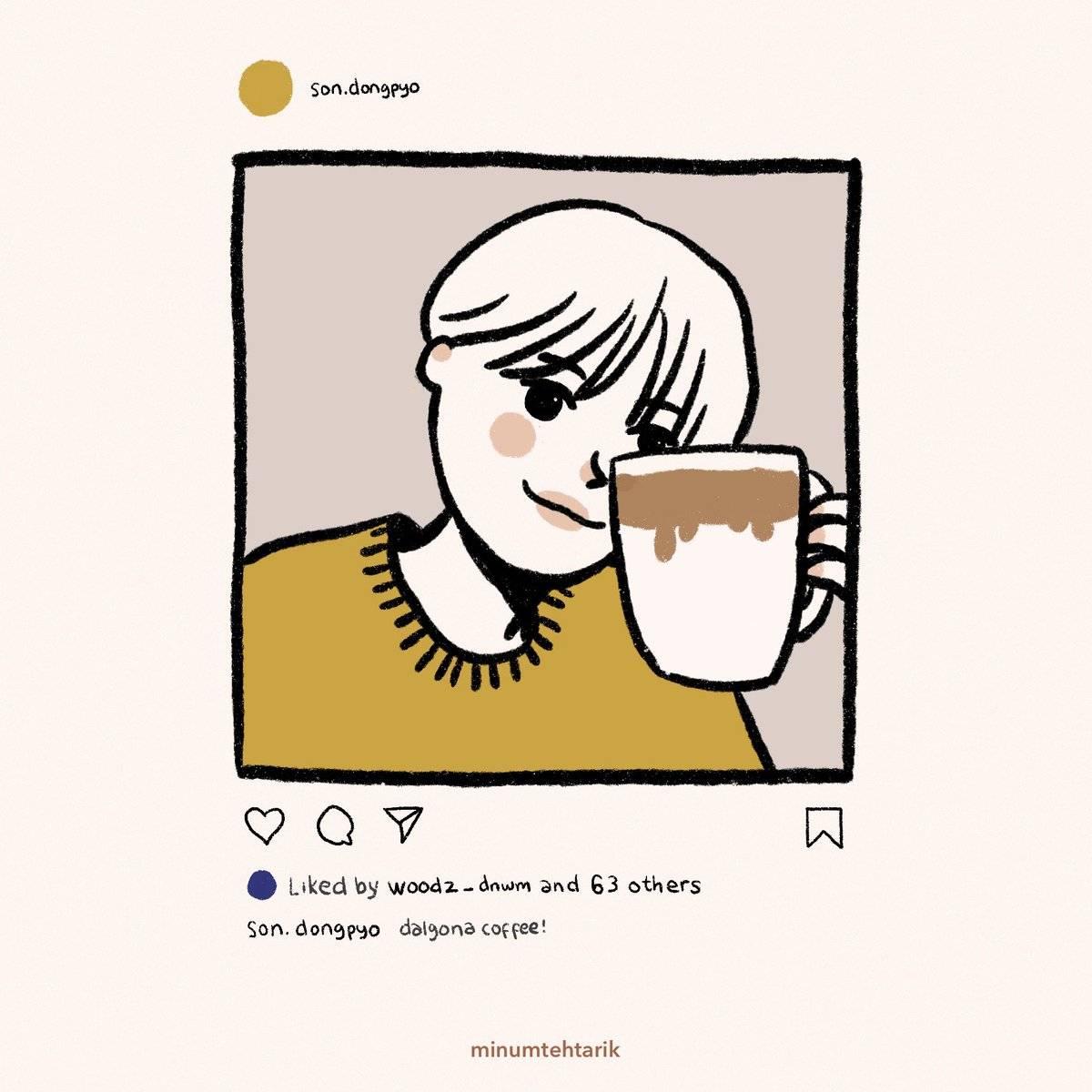 Дальгона кофе по-корейски