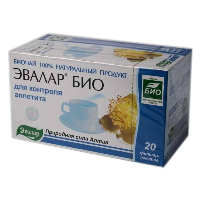 Чай эвалар био для контроля аппетита — применение, цена и отзывы