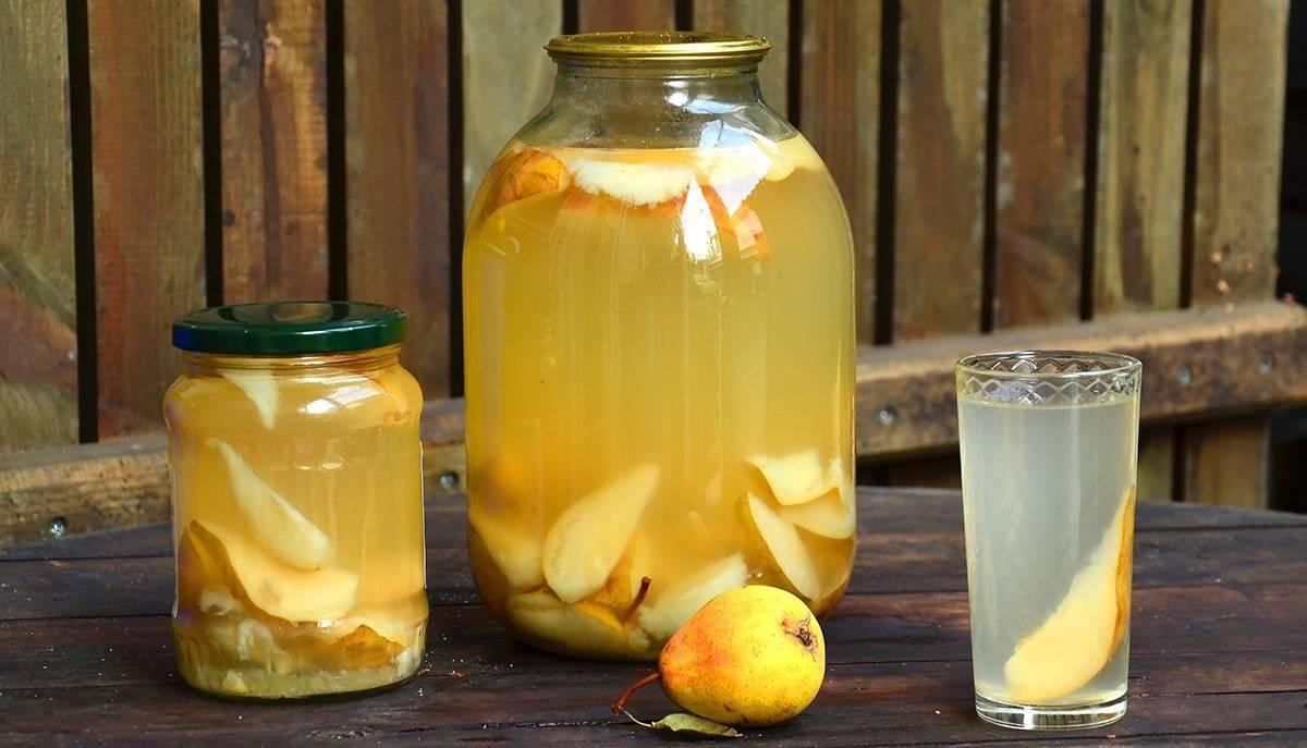 Компот на зиму из груш: простые рецепты со стерилизацией и без, с фото и видео
