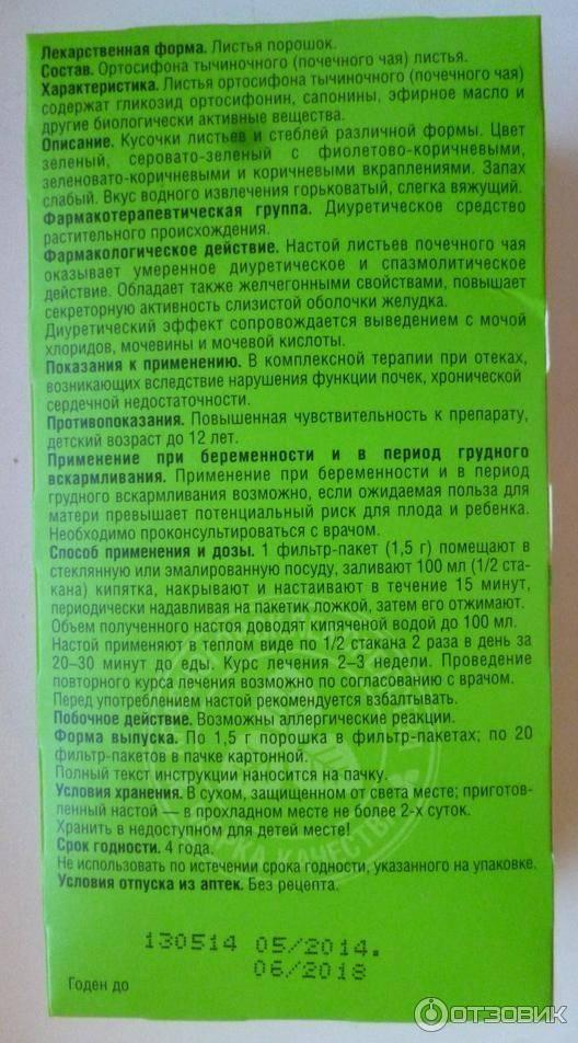 Почечный чай (ортосифон тычиночный): полезные свойства и противопоказания, инструкция по применению