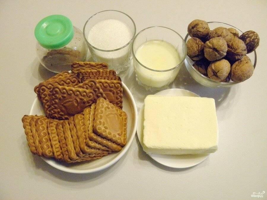 Шоколадная колбаса из печенья: пошаговый рецепт с фото