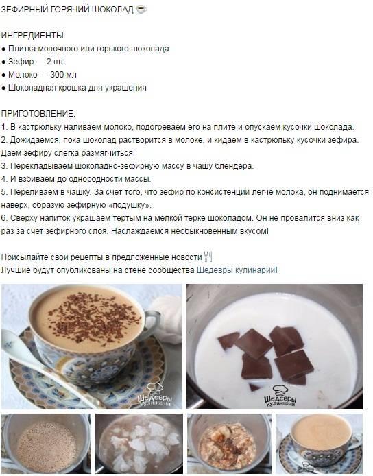 Горячий шоколад в домашних условиях из какао порошка: в домашних условиях