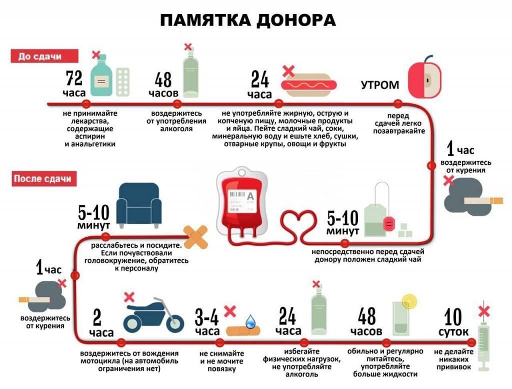 Можно ли кушать перед сдачей крови на донорство: что нельзя есть и что можно, диета перед сдачей донорской крови