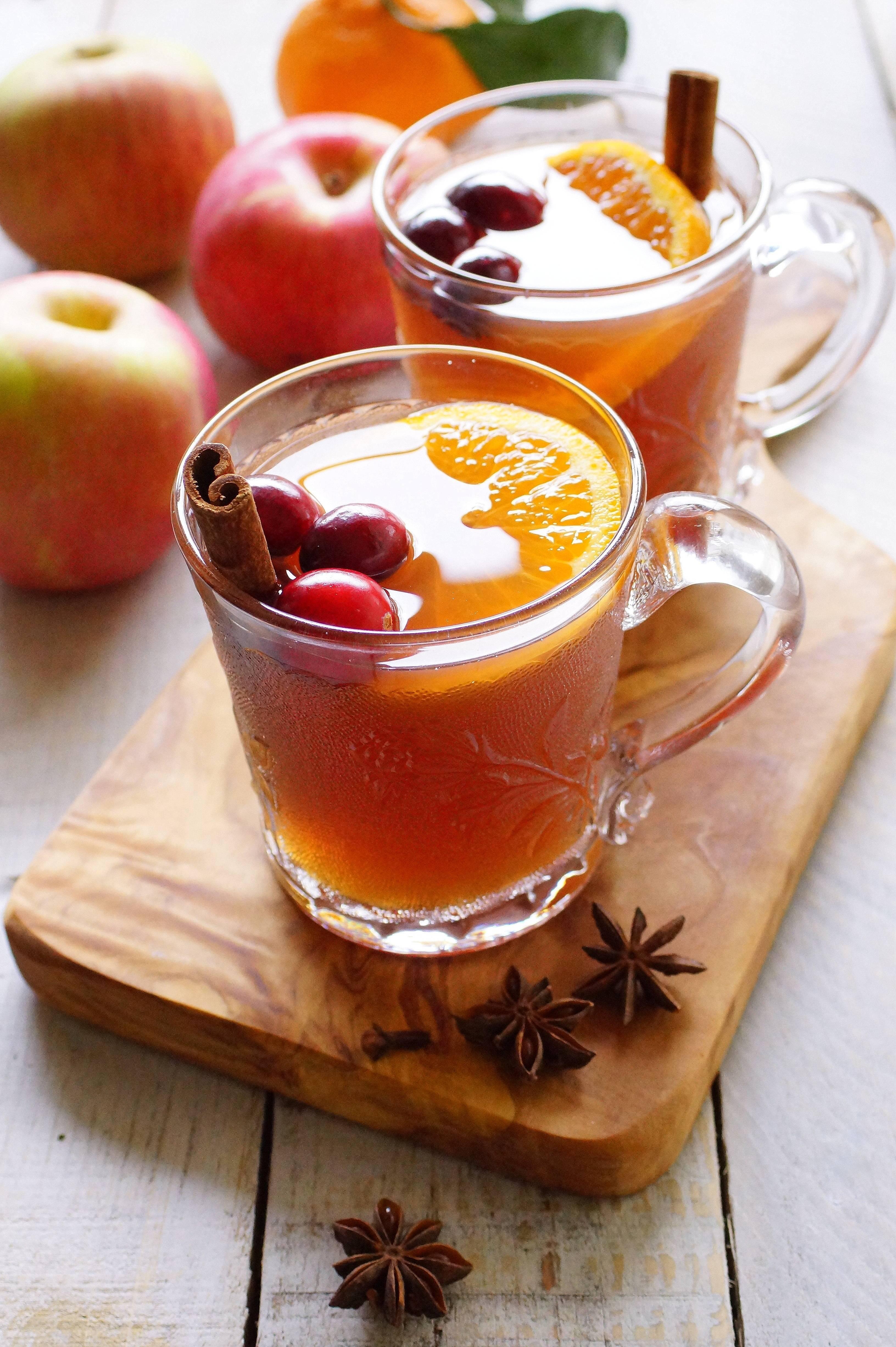 Яблочный чай с апельсином и корицей. польза. рецепты.