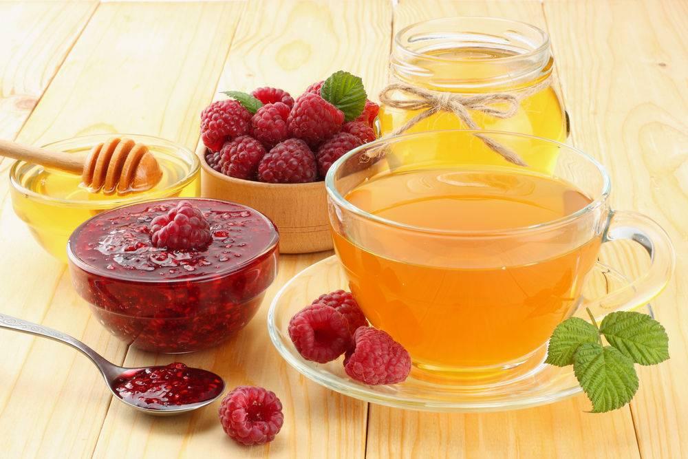 Чай с малиной: полезные свойства, показания, противопоказания. рецепты чая с малиной.