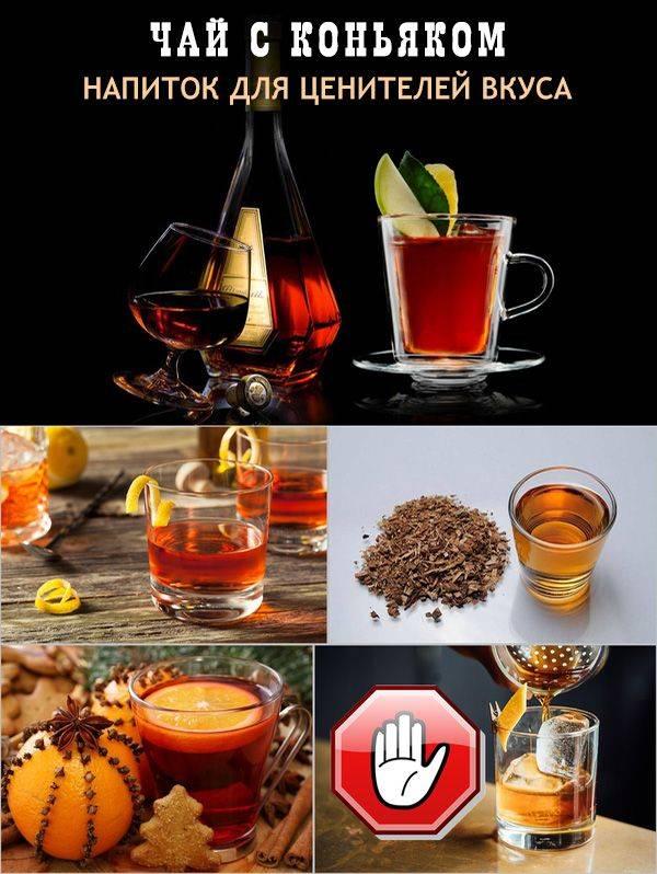 Чай с коньяком: польза, пропорции, показания