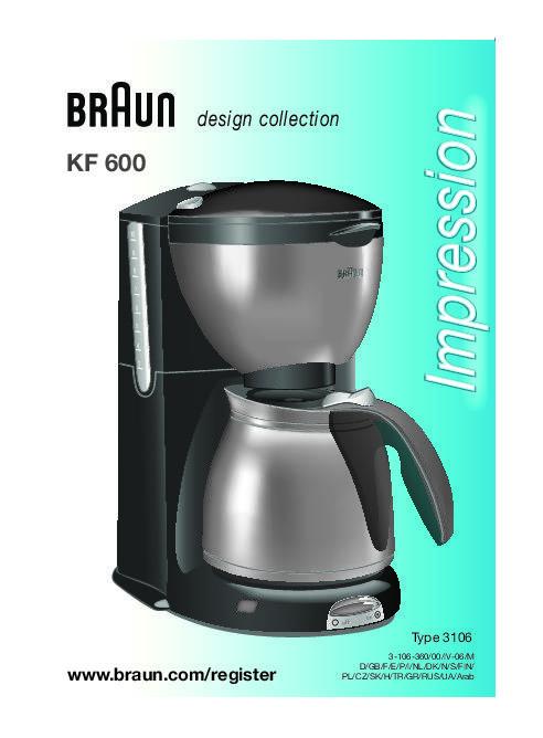 Кофеварки braun (браун) - модели, характеристики, отзывы