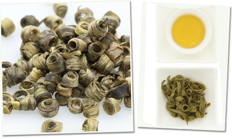 Чай нефритовые кольца (girl ring) с ароматом жасмина